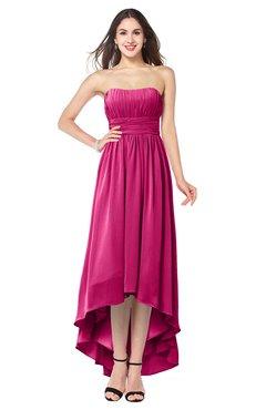 ColsBM Autumn Cabaret Simple A-line Sleeveless Zip up Asymmetric Ruching Plus Size Bridesmaid Dresses