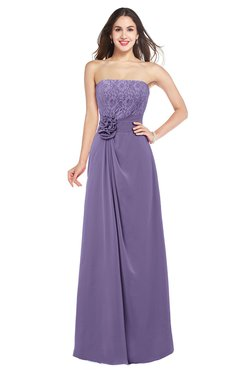 ColsBM Rylee Lilac Traditional A-line Strapless Sleeveless Half Backless Plus Size Bridesmaid Dresses