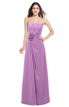 ColsBM Rylee Orchid Traditional A-line Strapless Sleeveless Half Backless Plus Size Bridesmaid Dresses