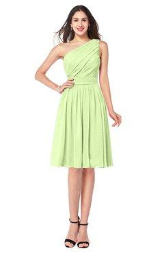 ColsBM Lorelei Butterfly Elegant Asymmetric Neckline Zipper Chiffon Knee Length Plus Size Bridesmaid Dresses