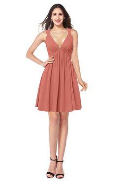 ColsBM Mara Crabapple Sexy A-line V-neck Sleeveless Chiffon Plus Size Bridesmaid Dresses