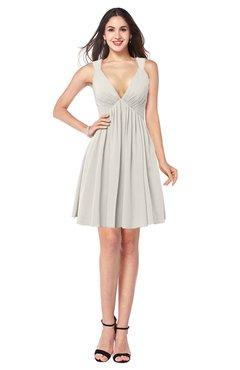 ColsBM Mara Off White Sexy A-line V-neck Sleeveless Chiffon Plus Size Bridesmaid Dresses