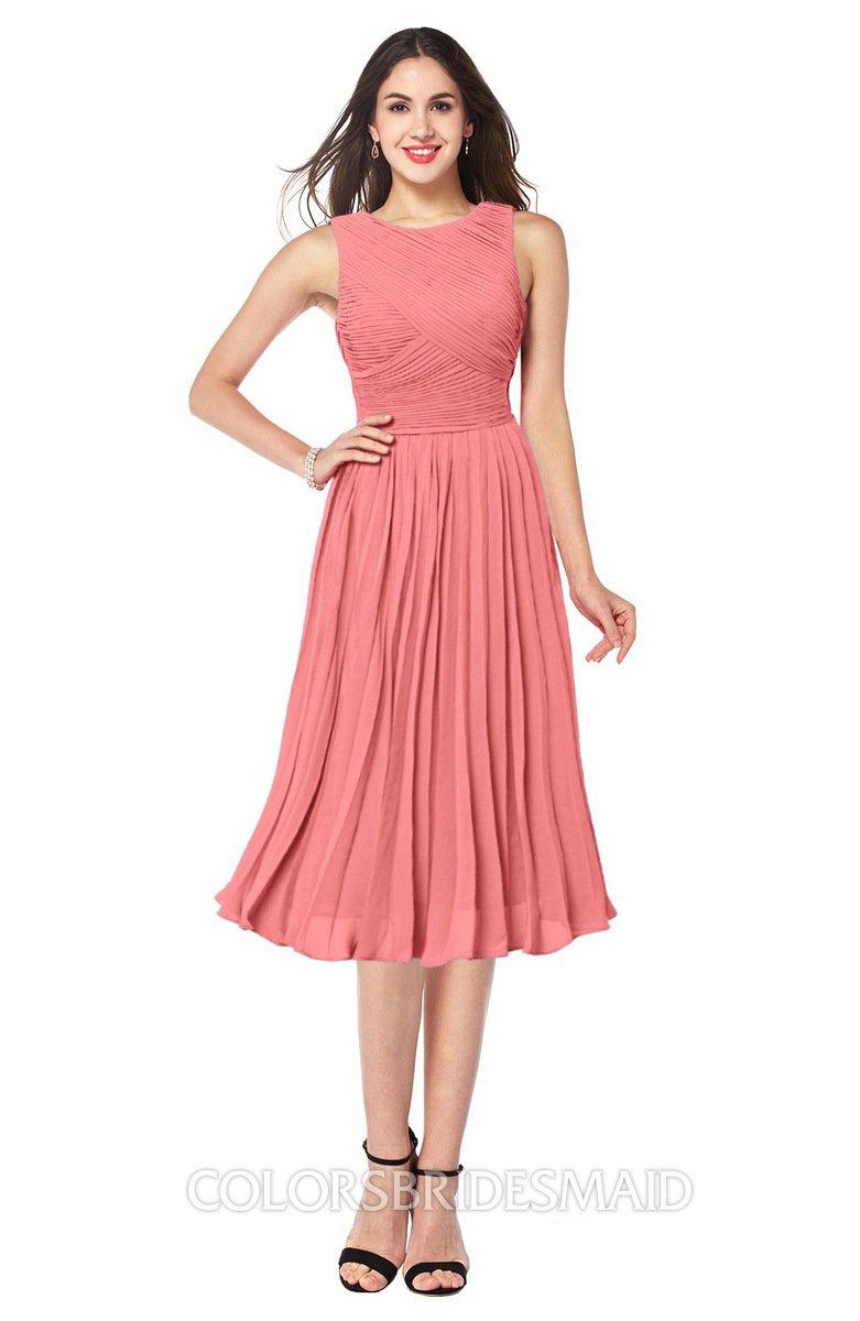 ColsBM Wynter Coral Bridesmaid Dresses - ColorsBridesmaid
