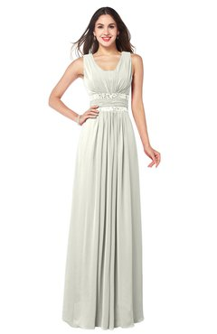 ColsBM Kelly Ivory Glamorous A-line Zip up Chiffon Sash Plus Size Bridesmaid Dresses