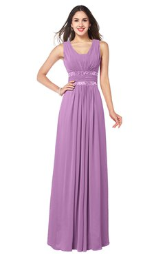 ColsBM Kelly Orchid Glamorous A-line Zip up Chiffon Sash Plus Size Bridesmaid Dresses