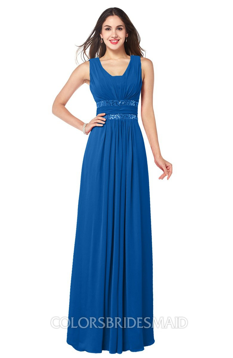 Royal blue glamorous a line zip up chiffon sash plus size bridesmaid glamorous a line zip up chiffon sash plus size bridesmaid dresses ombrellifo Image collections