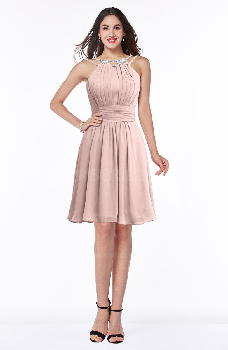 5930055de ColsBM Brynn Dusty Rose Simple A-line Jewel Half Backless Beaded Bridesmaid  Dresses