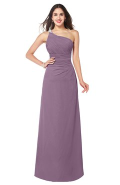 ColsBM Kamila Valerian Traditional Asymmetric Neckline Sleeveless Half Backless Chiffon Floor Length Plus Size Bridesmaid Dresses