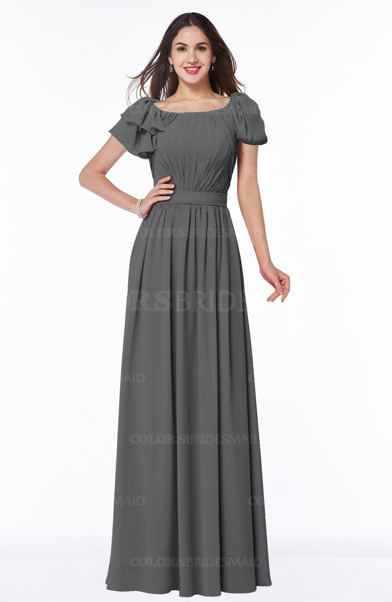Grey mature a line zipper chiffon floor length plus size bridesmaid mature a line zipper chiffon floor length plus size bridesmaid dresses ombrellifo Images