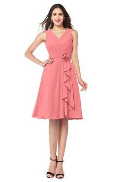 bridesmaid dresses coral