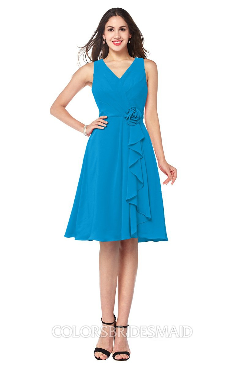 ColsBM Melissa Cornflower Blue Bridesmaid Dresses - ColorsBridesmaid