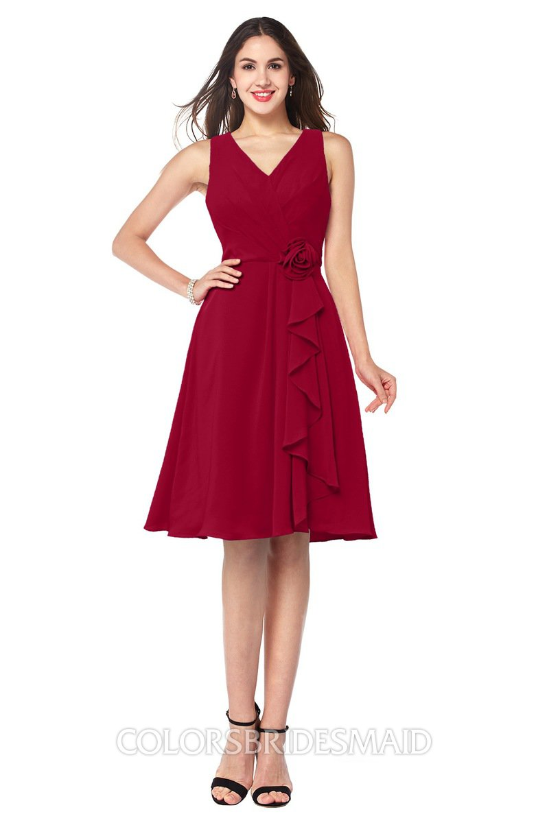 ColsBM Melissa Dark Red Bridesmaid Dresses - ColorsBridesmaid