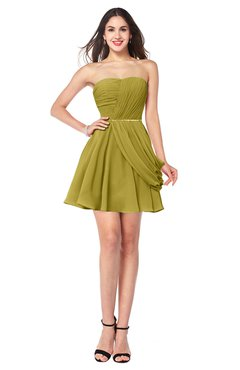 901d493cf99 ColsBM Noelle Golden Olive Elegant A-line Strapless Sleeveless Zip up  Sequin Plus Size Bridesmaid