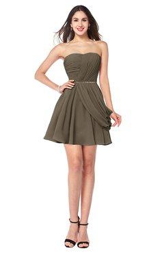ColsBM Noelle Otter Elegant A-line Strapless Sleeveless Zip up Sequin Plus Size Bridesmaid Dresses