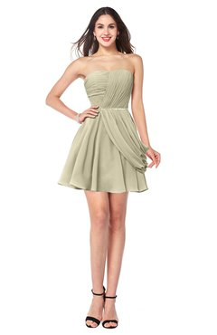 ColsBM Noelle Putty Elegant A-line Strapless Sleeveless Zip up Sequin Plus Size Bridesmaid Dresses