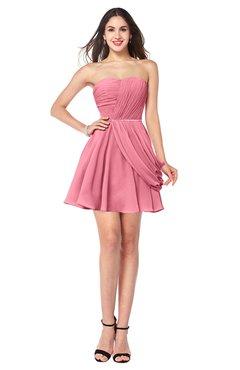 ColsBM Noelle Watermelon Elegant A-line Strapless Sleeveless Zip up Sequin Plus Size Bridesmaid Dresses