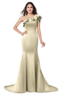 ColsBM Abigail Champagne Elegant Fishtail Sleeveless Zip up Satin Ruffles Bridesmaid Dresses