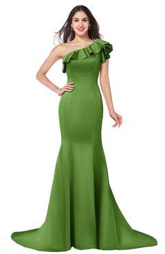 ColsBM Abigail Clover Elegant Fishtail Sleeveless Zip up Satin Ruffles Bridesmaid Dresses