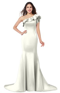 ColsBM Abigail Cream Elegant Fishtail Sleeveless Zip up Satin Ruffles Bridesmaid Dresses