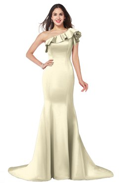 ColsBM Abigail Egret Elegant Fishtail Sleeveless Zip up Satin Ruffles Bridesmaid Dresses