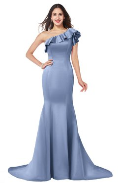 ColsBM Abigail Freesia Elegant Fishtail Sleeveless Zip up Satin Ruffles Bridesmaid Dresses