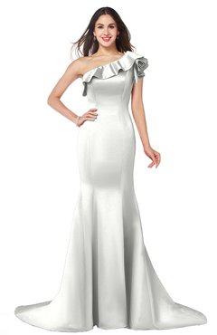ColsBM Abigail Ivory Elegant Fishtail Sleeveless Zip up Satin Ruffles Bridesmaid Dresses