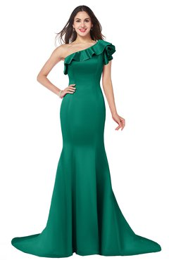 ColsBM Abigail Mint Elegant Fishtail Sleeveless Zip up Satin Ruffles Bridesmaid Dresses