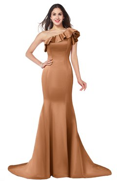 ColsBM Abigail Pheasant Elegant Fishtail Sleeveless Zip up Satin Ruffles Bridesmaid Dresses