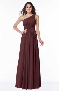 ColsBM Nancy Burgundy Sexy A-line Sleeveless Zip up Chiffon Ruching Plus Size Bridesmaid Dresses