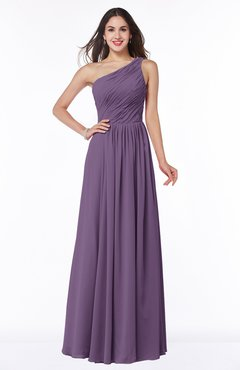 ColsBM Nancy Eggplant Sexy A-line Sleeveless Zip up Chiffon Ruching Plus Size Bridesmaid Dresses