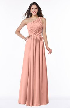 Sexy A-line Sleeveless Zip up Chiffon Ruching Plus Size Bridesmaid Dresses