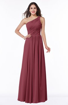 ColsBM Nancy Wine Sexy A-line Sleeveless Zip up Chiffon Ruching Plus Size Bridesmaid Dresses