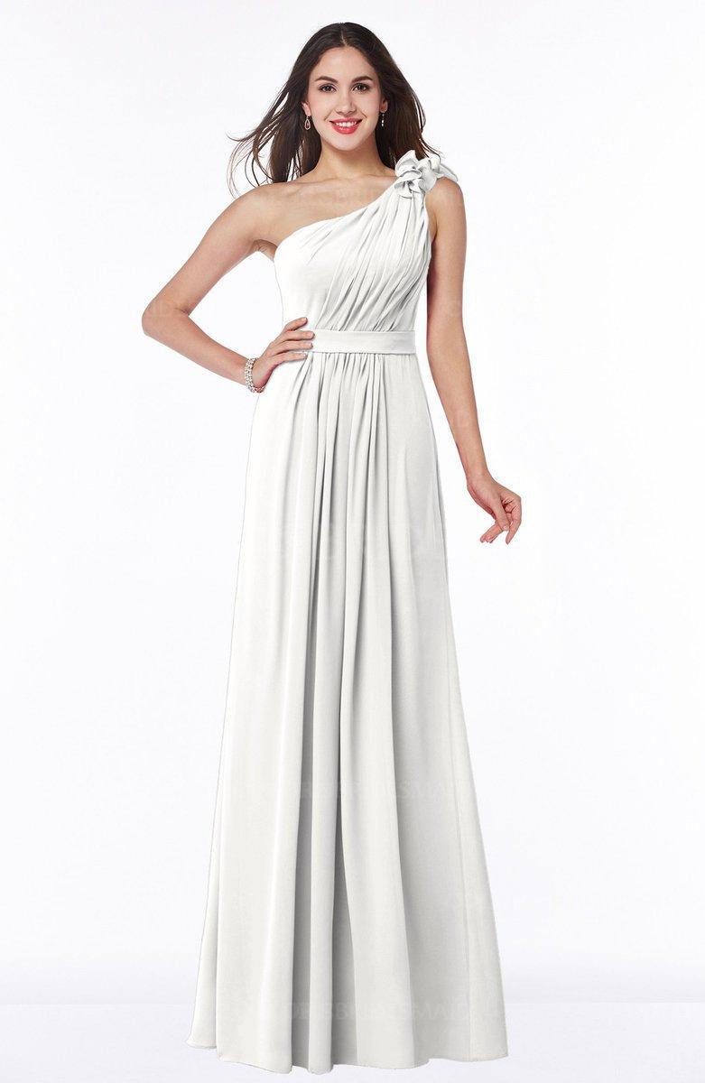 Cloud white glamorous a line backless chiffon floor length for Chiffon plus size wedding dresses
