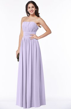 2883439d576 ColsBM Maia Light Purple Classic Strapless Sleeveless Chiffon Floor Length  Ribbon Plus Size Bridesmaid Dresses