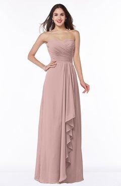 ColsBM Mira Blush Pink Classic A-line Zipper Chiffon Floor Length Plus Size Bridesmaid Dresses