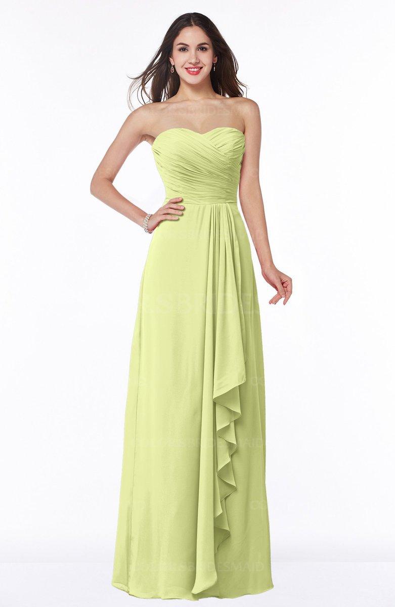 14fddec7fa ColsBM Mira Lime Sherbet Classic A-line Zipper Chiffon Floor Length Plus  Size Bridesmaid Dresses