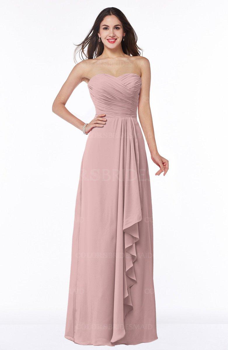 ColsBM Mira Silver Pink Bridesmaid Dresses - ColorsBridesmaid