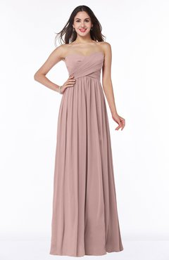 ColsBM Leyla Blush Pink Modern A-line Sleeveless Zipper Chiffon Plus Size Bridesmaid Dresses