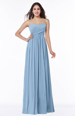 ColsBM Leyla Dusty Blue Modern A-line Sleeveless Zipper Chiffon Plus Size Bridesmaid Dresses