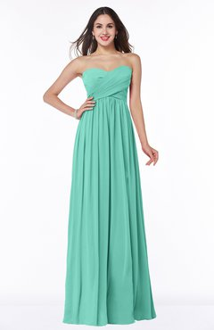 9b9de2d1dcb ColsBM Leyla Mint Green Modern A-line Sleeveless Zipper Chiffon Plus Size  Bridesmaid Dresses