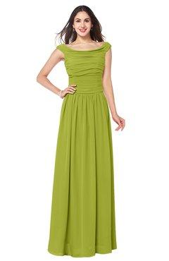 a0e347e5243f ColsBM Tatiana Green Oasis Antique A-line V-neck Sleeveless Pleated Plus  Size Bridesmaid