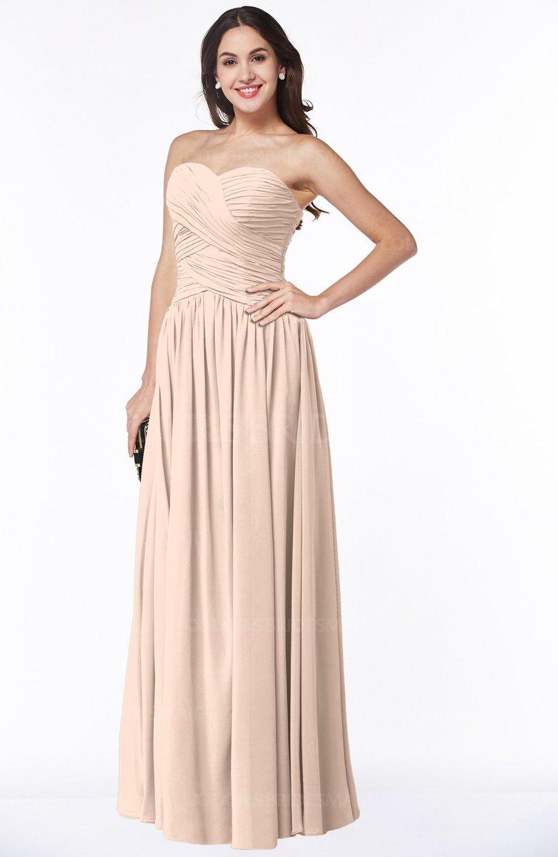 23befe7735f ColsBM Kira Fresh Salmon Elegant Sleeveless Half Backless Chiffon Floor  Length Pleated Plus Size Bridesmaid Dresses