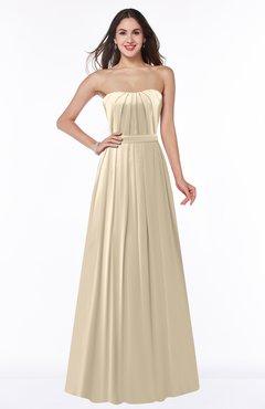 ColsBM Georgia Champagne Classic A-line Strapless Sleeveless Chiffon Plus Size Bridesmaid Dresses