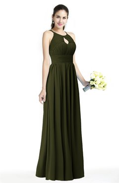 ColsBM Cherish Beech Traditional A-line Jewel Sleeveless Zipper Sash Bridesmaid Dresses