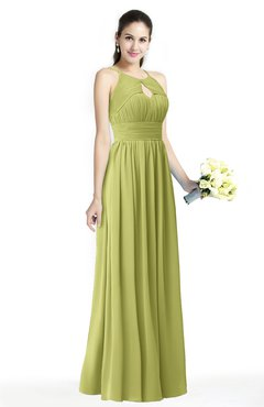 ColsBM Cherish Pistachio Traditional A-line Jewel Sleeveless Zipper Sash Bridesmaid Dresses