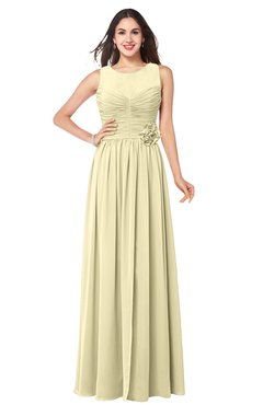 ColsBM Carla Anise Flower Romantic Jewel Zipper Chiffon Pleated Plus Size Bridesmaid Dresses