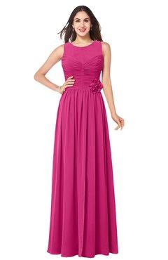 ColsBM Carla Cabaret Romantic Jewel Zipper Chiffon Pleated Plus Size Bridesmaid Dresses