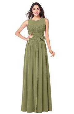 ColsBM Carla Cedar Romantic Jewel Zipper Chiffon Pleated Plus Size Bridesmaid Dresses