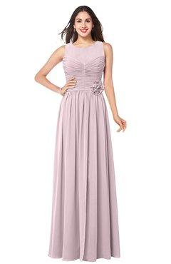 ColsBM Carla Pale Lilac Romantic Jewel Zipper Chiffon Pleated Plus Size Bridesmaid Dresses