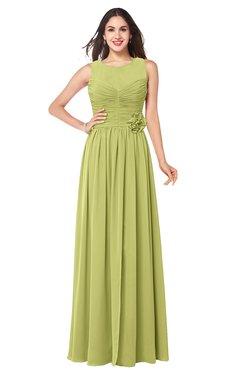 ColsBM Carla Pistachio Romantic Jewel Zipper Chiffon Pleated Plus Size Bridesmaid Dresses